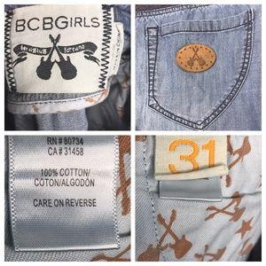 BCBGirls Skirts - BCBGirls Blue Crochet Denim Mini Skirt A160407